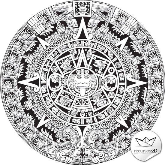 Calendario Vectorizado.Calendario Azteca Vector At Getdrawings Com Free For