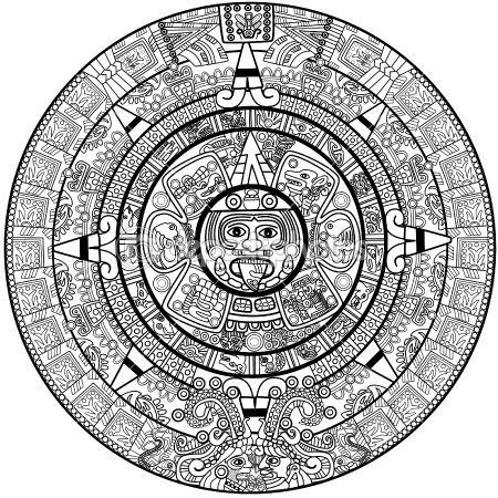 Calendario Azteca Vectores.The Best Free Maya Vector Images Download From 30 Free