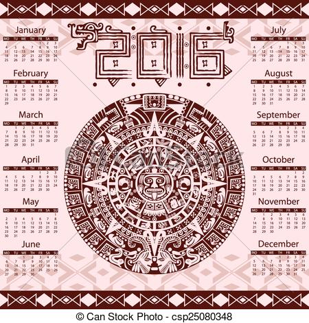 Calendario Maya Vector.Calendario Azteca Vector At Getdrawings Com Free For
