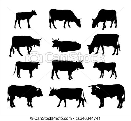 450x417 Cow Silhouette