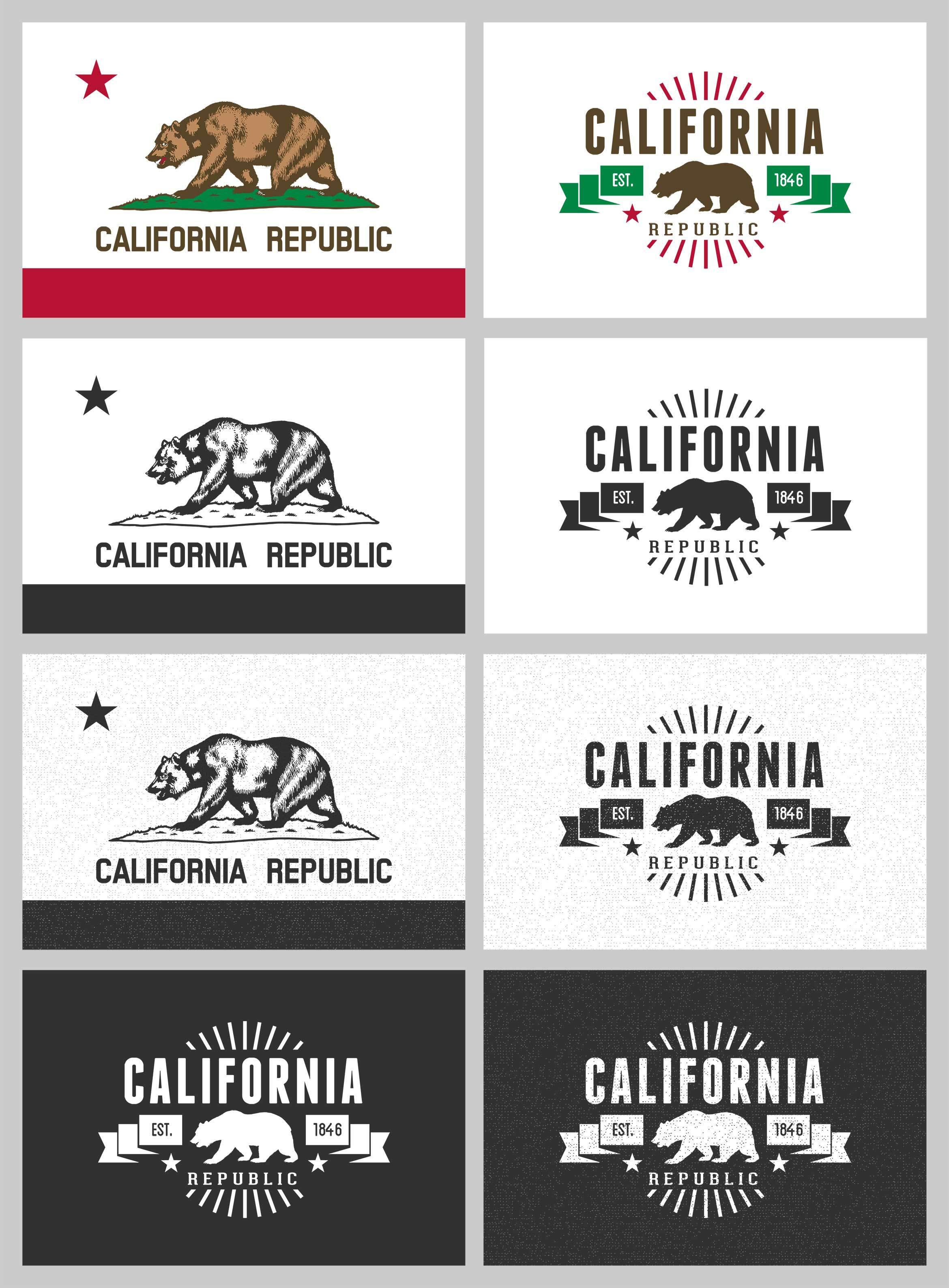 2340x3175 Free California Bear Flag Vector Pack California Design Agency