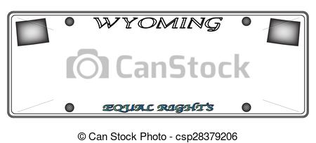 450x204 Wyoming License Plate. A Wyoming State License Plate Design