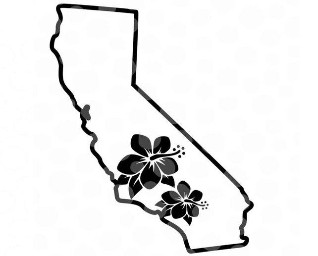 642x517 California Svg California Vector California Map State Svg Etsy