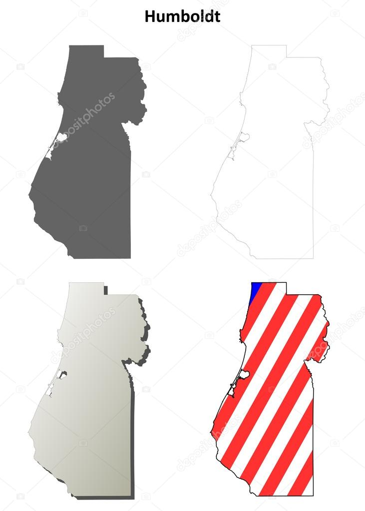 731x1023 Outline Map California Humboldt County California Outline Map Set