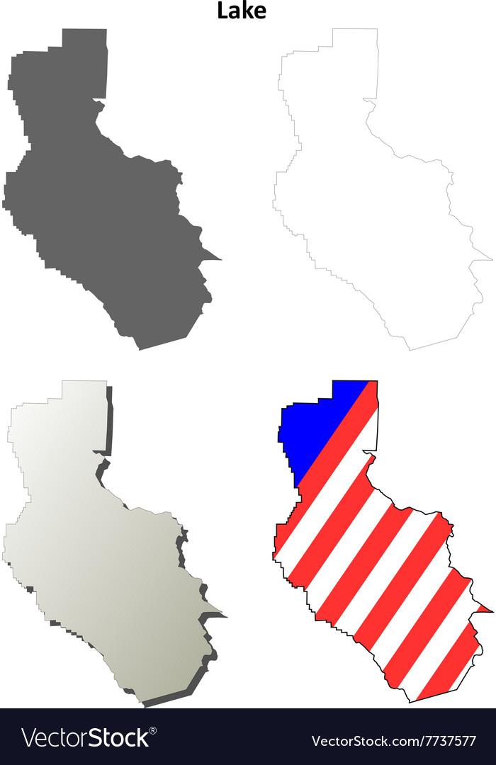 700x1080 Outline Map California Lake County California Outline Map Set