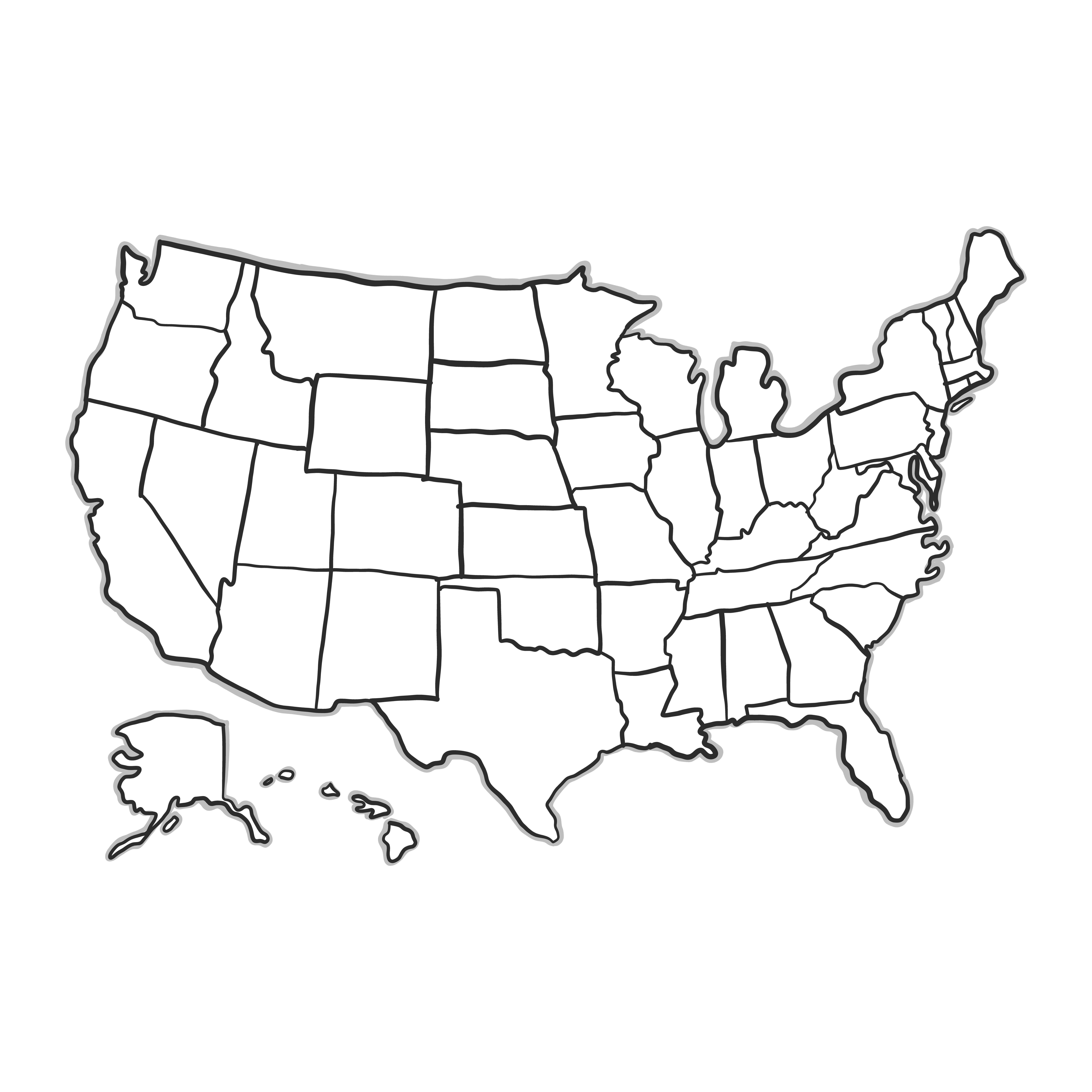 8000x8000 California Map Outline Vector California Map Outline Vector