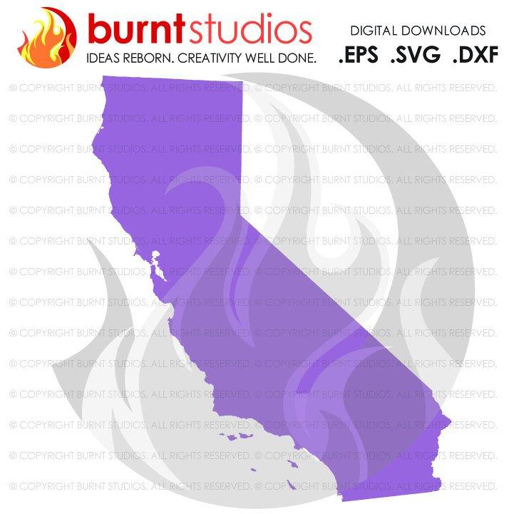 721x721 State Of California Svg Cutting File, Digital Download, Love, Home