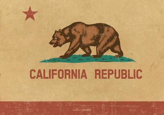 571x400 Grunge Flag Of California California Bear