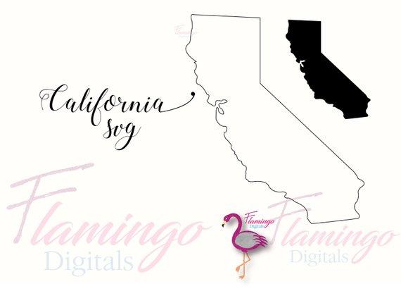 570x413 California Svg California State Vector File California Etsy