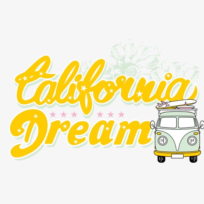 650x651 California Dream Vector Material, California Dream Wordart