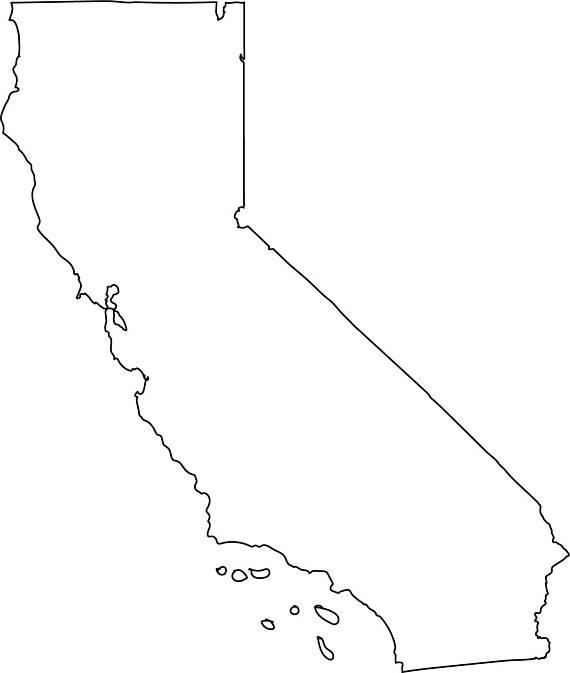 570x673 California Map Clipart California Map Outline California Vector