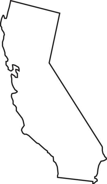 348x596 Collection Of Free California Vector Blank. Download On Ubisafe