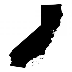 300x300 Map Of The Us State Of California Vector Shopatcloth