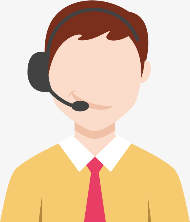 650x759 Vector Call Center Male Customer Service, Vector Diagram, Male