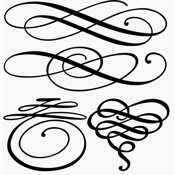 736x736 Calligraphy Clipart Pretty Lines