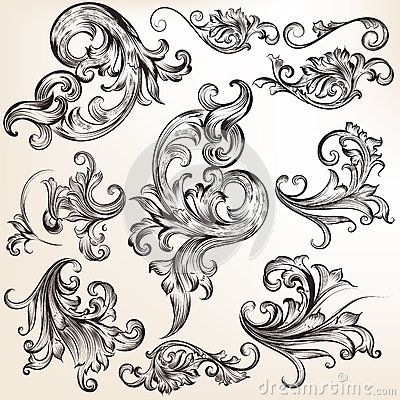 400x400 Collection Of Vector Calligraphic Flourishes Tattoo Ideas