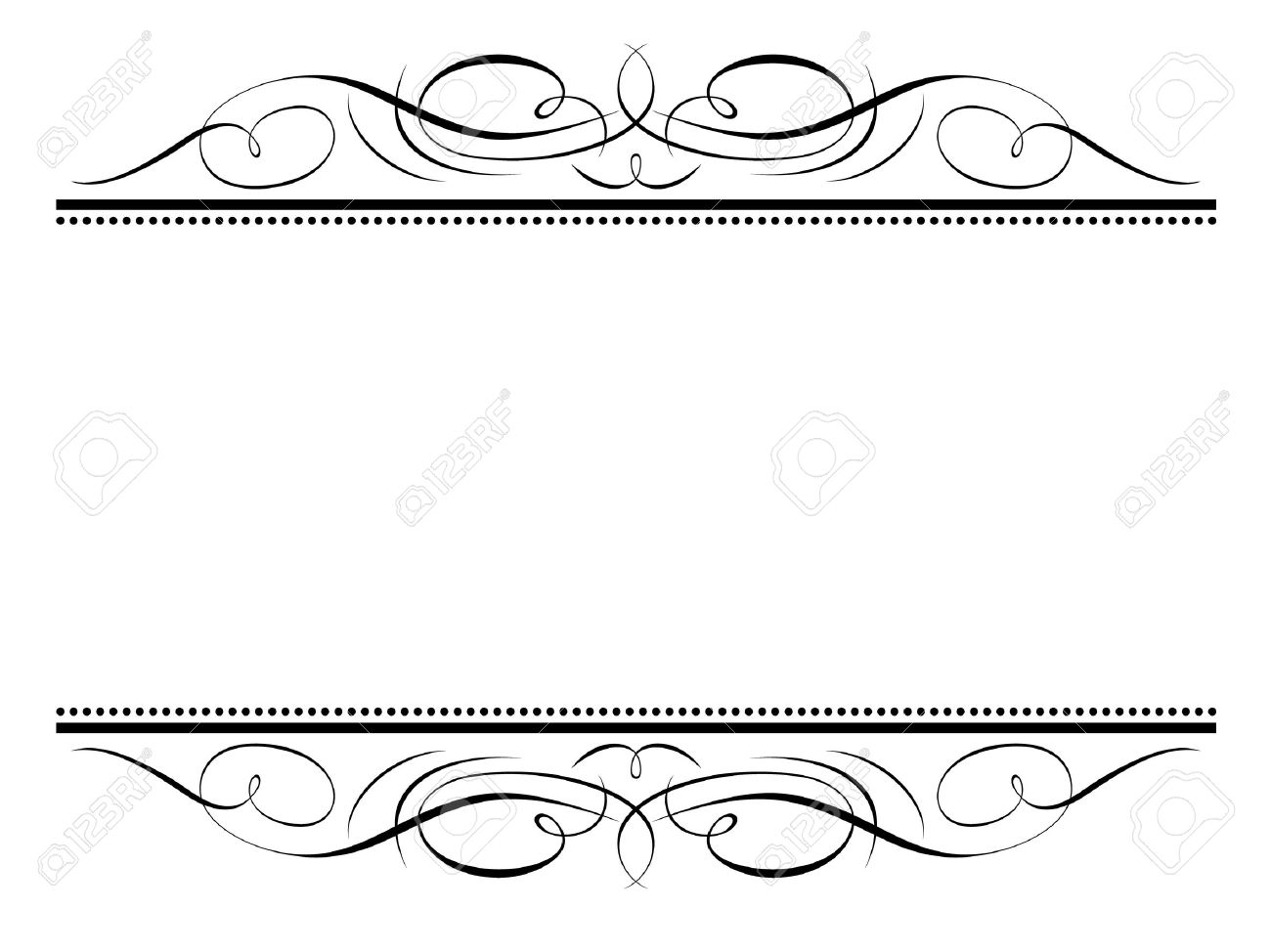1300x974 Decorative Clipart Calligraphy Line ~ Frames ~ Illustrations ~ Hd