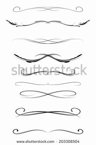 314x470 Calligraphy Lines Vector Inspirational Calligraphy Line Border