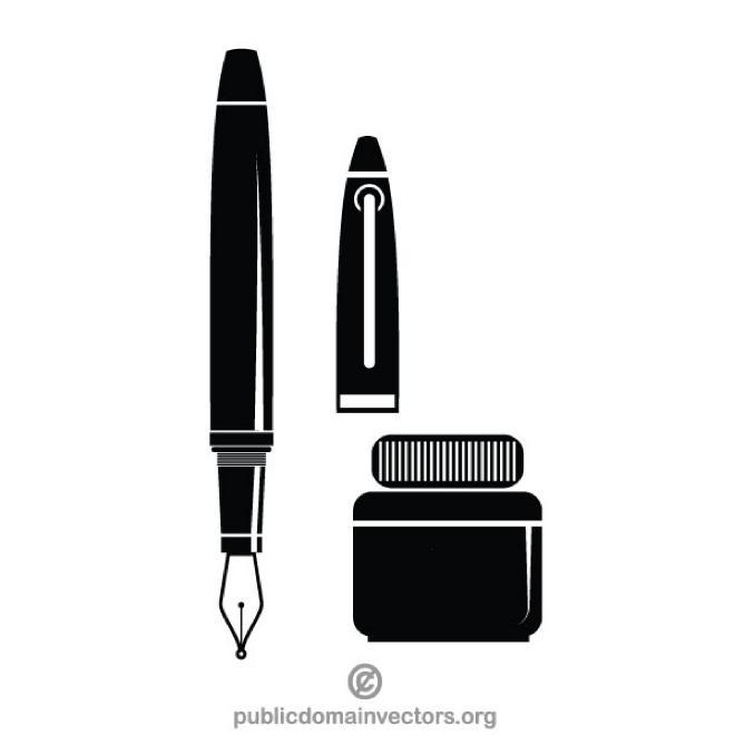 660x660 Fountain Pen Vector Image