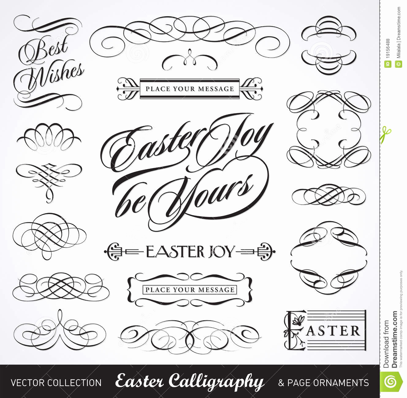 1328x1300 Calligraphy Vector Free Download Fresh Easter Calligraphy Set