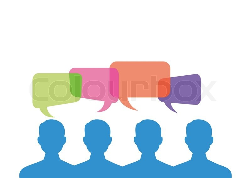 800x567 People With Vector Callout Stock Vector Colourbox