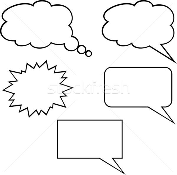 600x594 Callout Shapes (Speech Bubbles) Vector Illustration Mr Vector