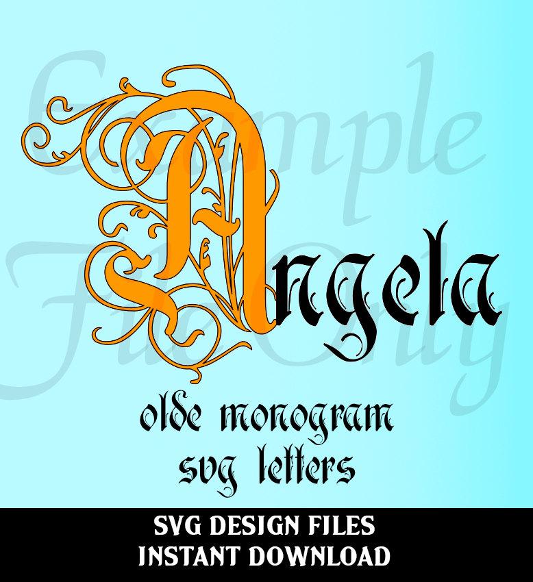 778x850 Olde Monogram Svg, Monogram Font, Vector Monogram Svg, Silhouette