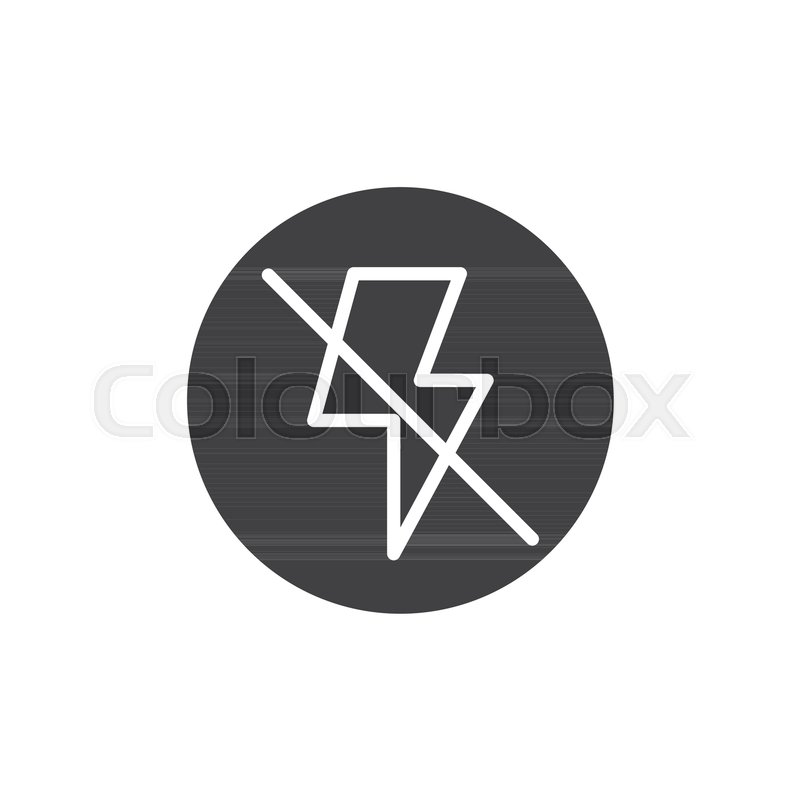 800x800 Camera Flash Off Icon Vector, Filled Flat Sign, Solid Pictogram