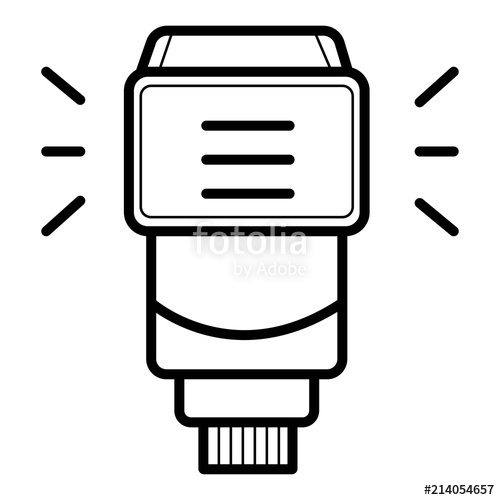 500x500 Camera Flash Rounded Icon. Stock Image And Royalty Free Vector