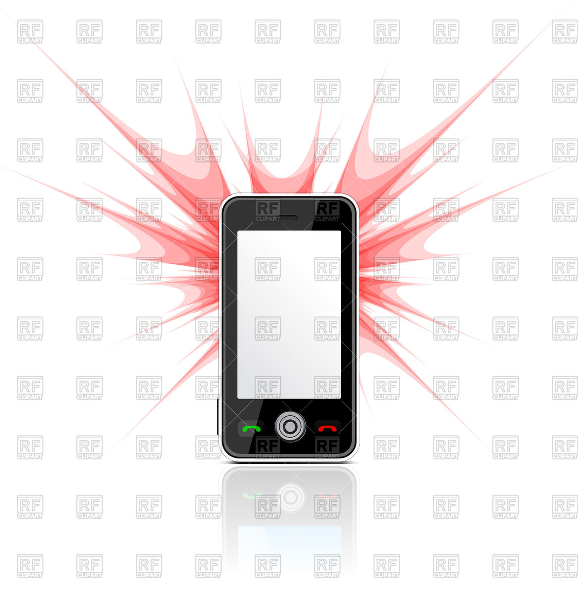 1167x1200 Mobile Phone And Camera With Flash Vector Image Vector Artwork