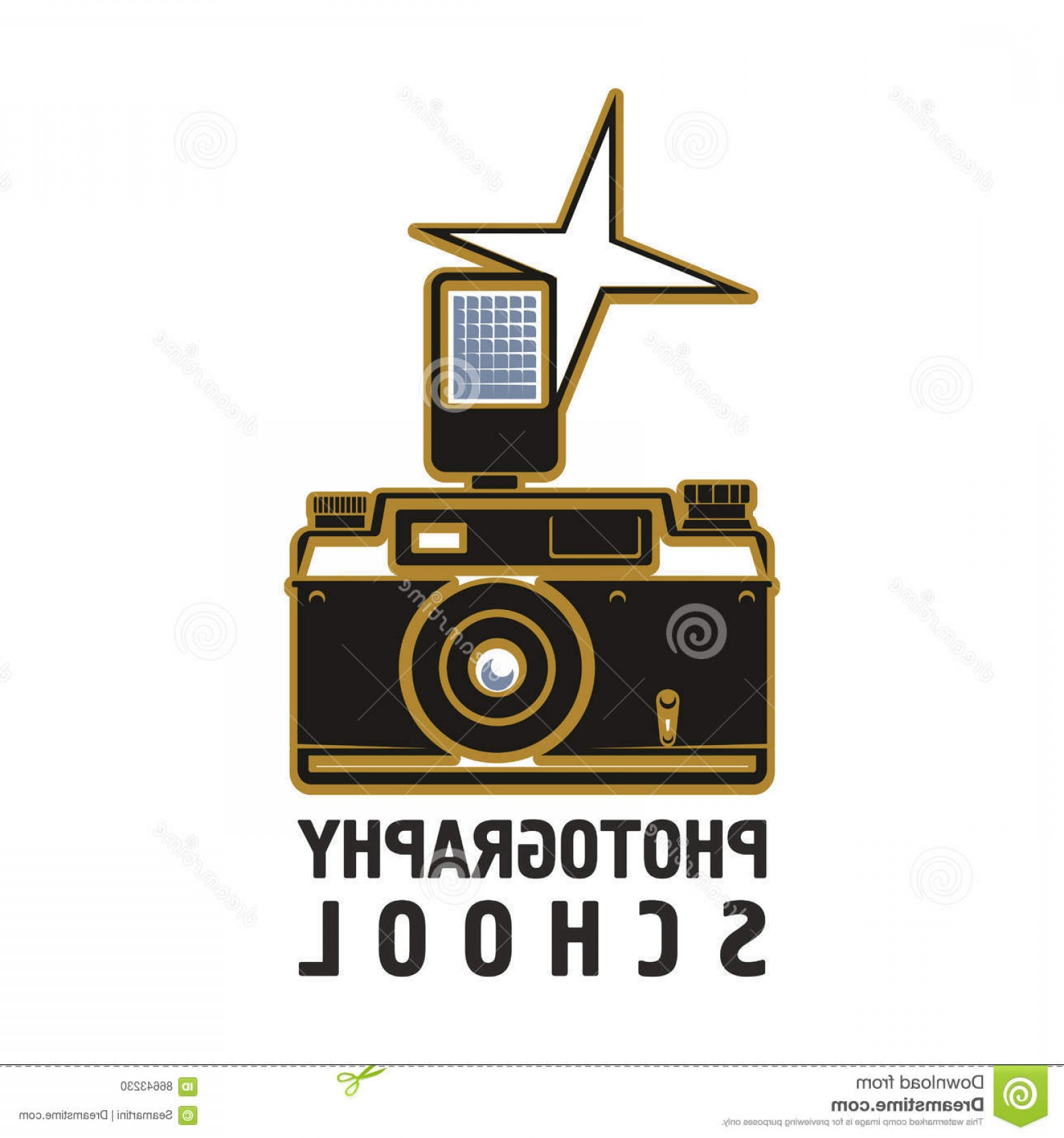 1560x1668 Stock Illustration Camera Flash Photography School Vector Icon Old