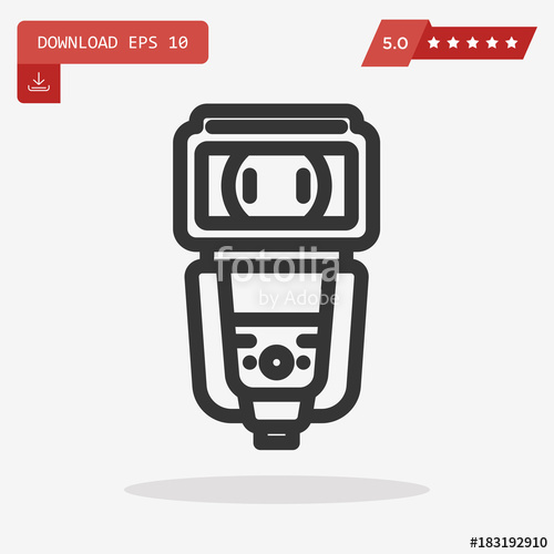 500x500 Camera Flash Vector Icon Stock Image And Royalty Free Vector