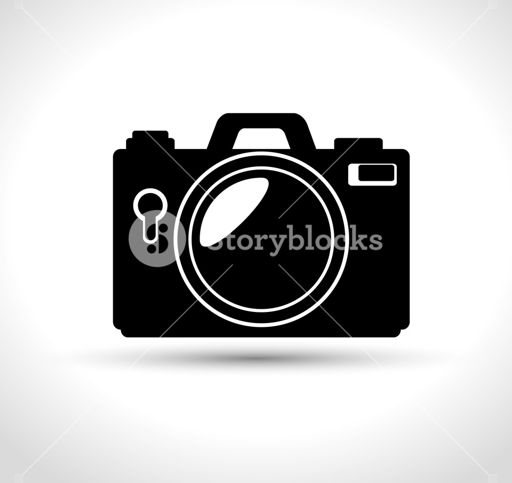 1000x943 Compact Photo Camera Flash White Background Design, Vector