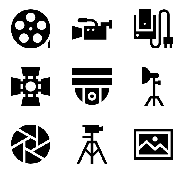 600x564 Camera Flash Icons