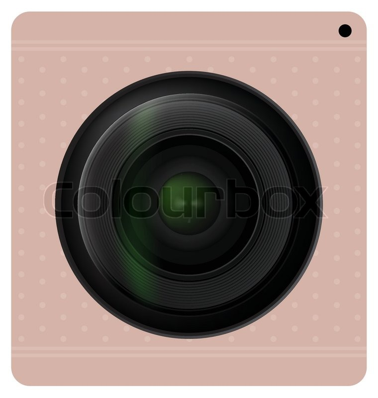 760x800 Camera Lens Shutter, Camera Icon. Vector Illustration. Stock