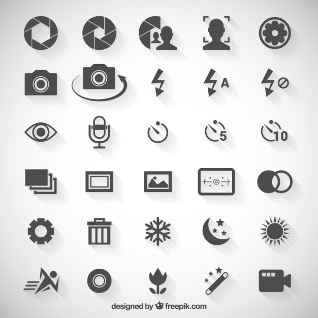626x626 Camera Option Icons Vector Premium Download