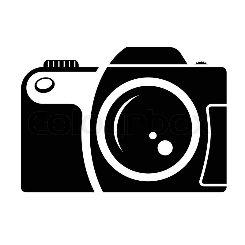800x800 Camera Sign Black And White Icon Design Element Of Corporate