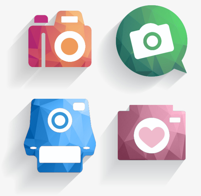 650x635 4 Creative Camera Icon Vector, Camera Clipart, Creative Icon