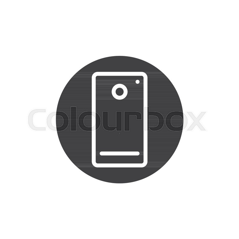 800x800 Phone Camera Icon Vector, Filled Flat Sign, Solid Pictogram