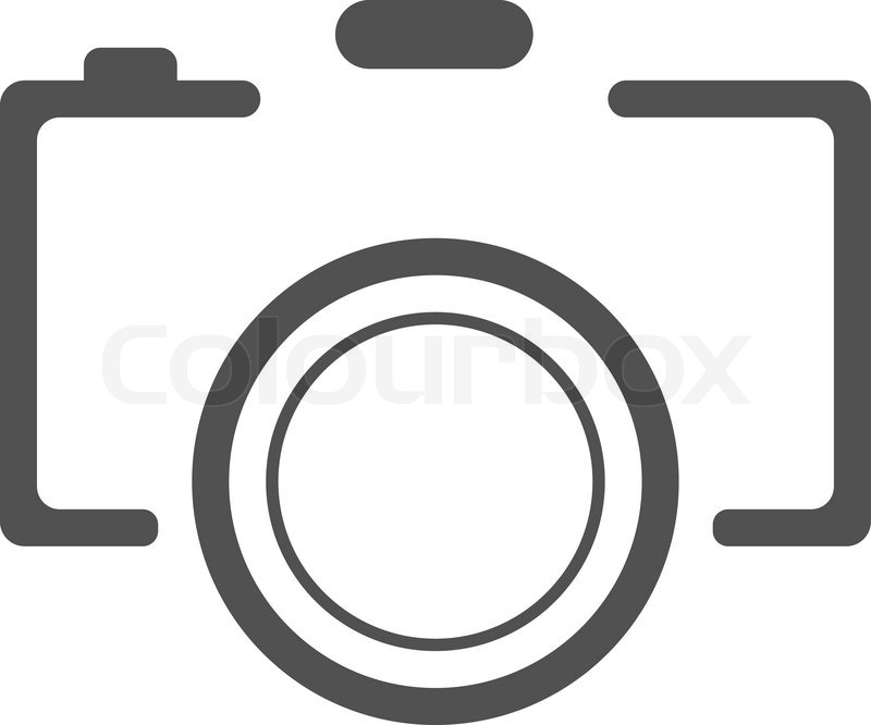 800x666 Abstract Black Camera Icon On White Background. Vector