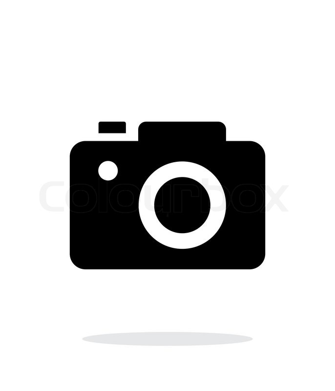 686x800 Slr Camera Simple Icon On White Background. Vector Illustration