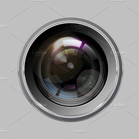 580x580 Camera Photo Lens, Vector. Graphics Camera Photo Lens, Vector