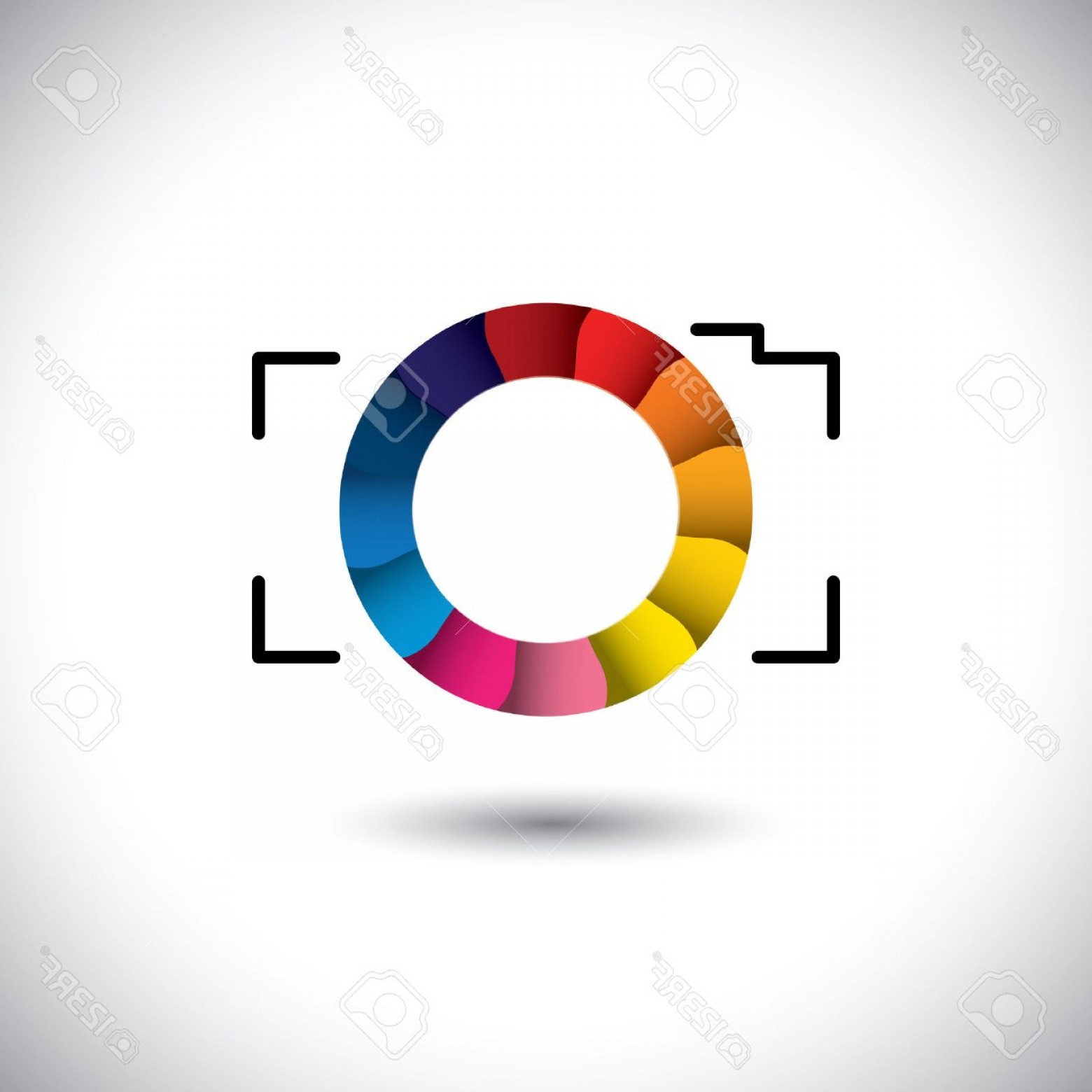 1560x1560 Photoabstract Digital Camera With Colorful Shutter Vector Icon