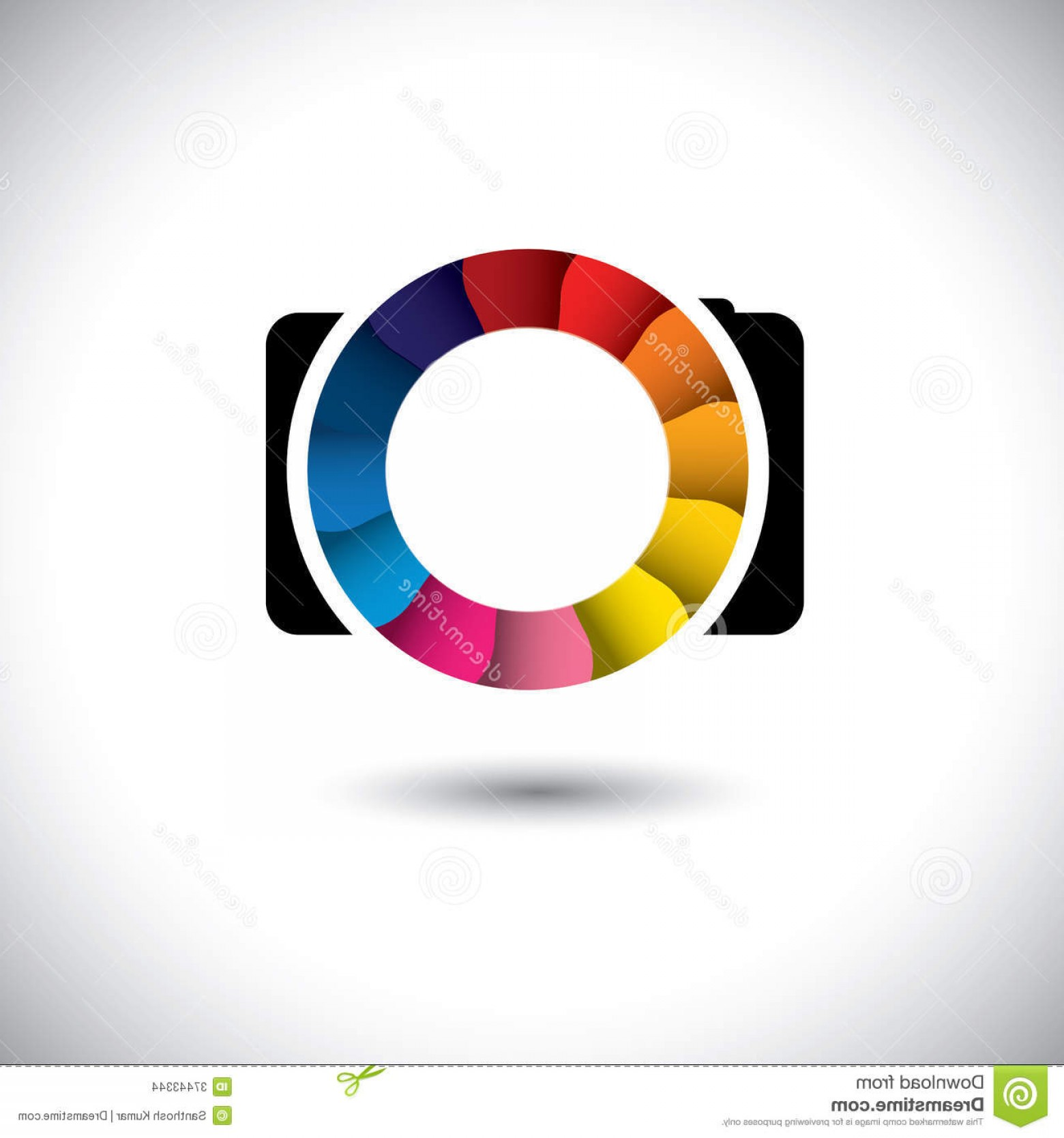 1560x1668 Stock Images Abstract Slr Digital Camera Colorful Shutter Vector