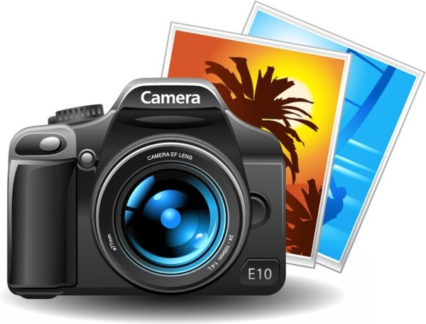 600x456 Camera Icon Shiny Modern 3d Design Free Vector In Encapsulated