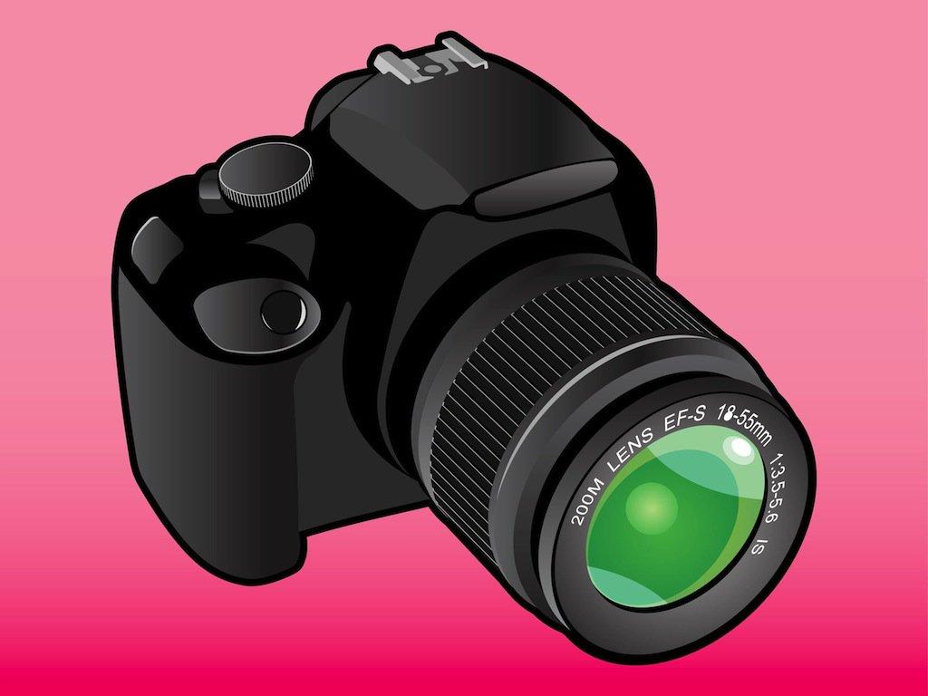 1024x768 Dslr Camera Vector Vector Art Amp Graphics