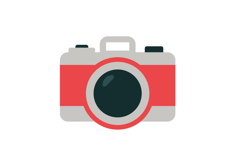 800x566 Camera Flat Style Vector Icon