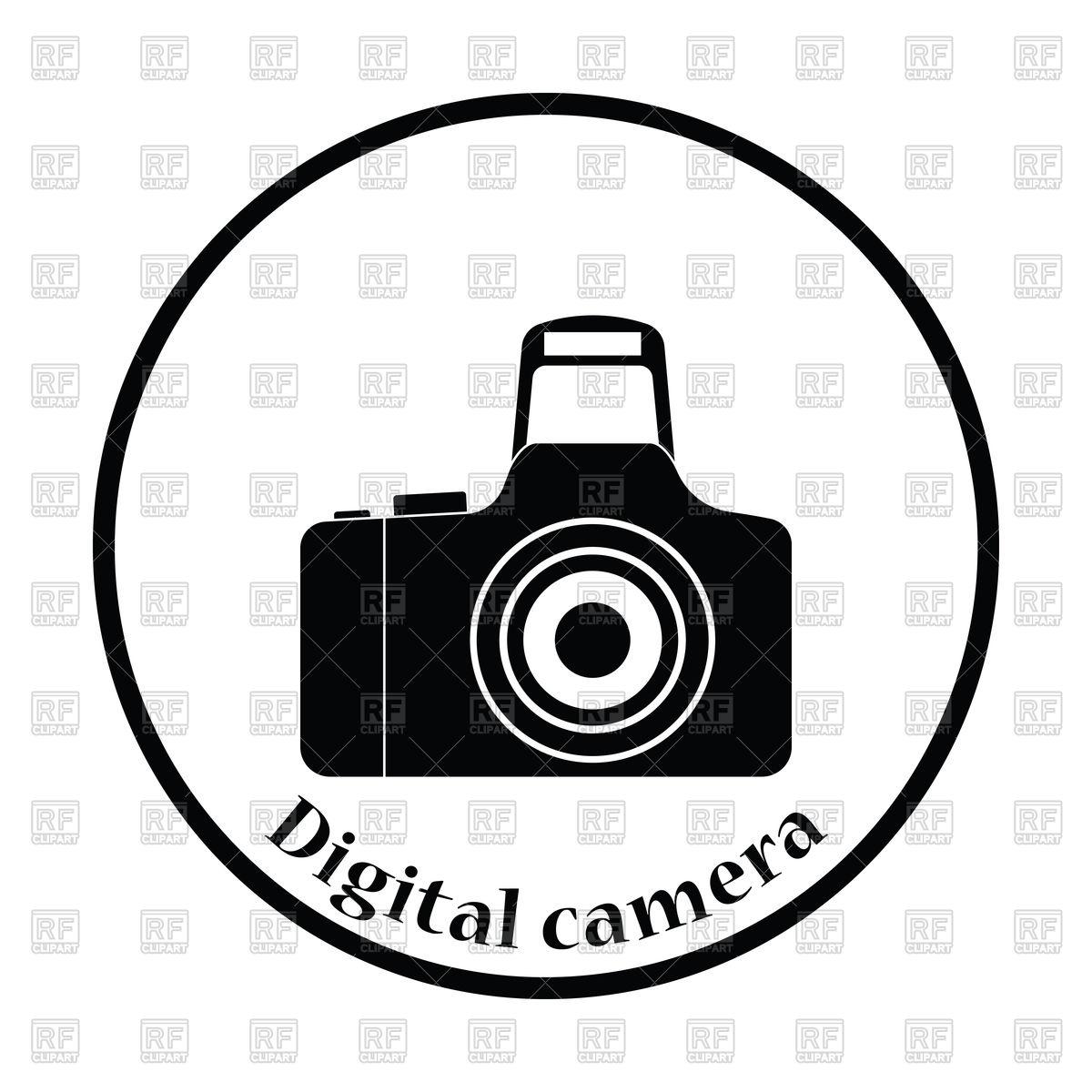 1200x1200 Thin Circle Design Icon Of Photo Camera Vector Image Vector