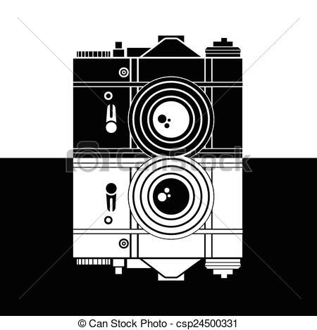 450x469 Camera Vector Illustration.