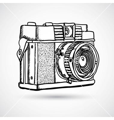 380x400 Drawn Vector Camera